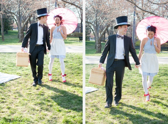 Elaine Eric Cherry Blossom Tidal Basin Alice in Wonderland Engagement Session Washington DC Wedding Photographer photo