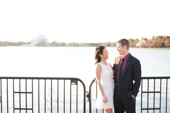 Elaine Eric Cherry Blossom Tidal Basin Engagement Session Washington DC Wedding Photographer photo