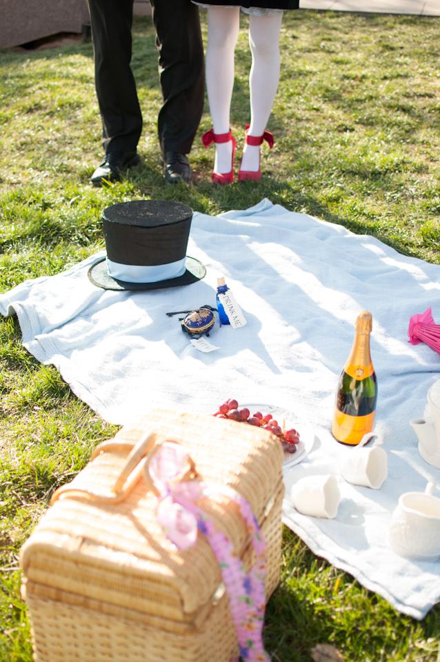 Elaine Eric Cherry Blossom Tidal Basin Alice in Wonderland Engagement Session Washington DC Wedding Photographer photo